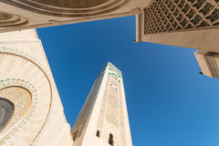 A grande mesquita de Hassan II em Casablanca, Marrocos Fotos de Stock Royalty Free