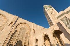 A grande mesquita de Hassan II em Casablanca, Marrocos Foto de Stock Royalty Free