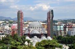 A grande mesquita de Tirana, é uma mesquita que esteja sendo construída atualmente em Tirana, Albânia fotos de stock royalty free