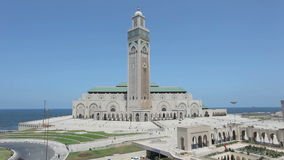 Grande mesquita em Casablanca, Marrocos Fotografia de Stock
