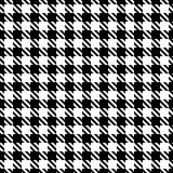 Grande modello grafico senza cuciture di pied de poule in bianco e nero illustrazione vettoriale