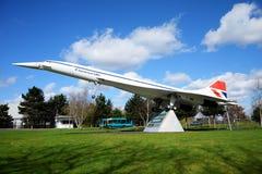 Grande modelo à escala de Concorde Imagens de Stock Royalty Free