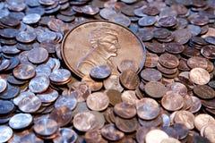 Grande moeda de um centavo Imagens de Stock