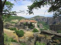 Grande monastero della meteora, Grecia fotografie stock