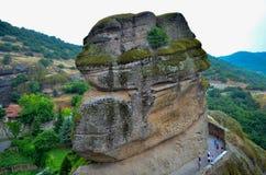 Grande monastero Meteora, Grecia fotografia stock