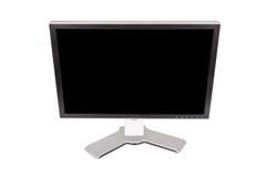 Grande monitor su un fondo bianco Fotografia Stock