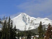 Grande montagna del cielo immagini stock libere da diritti