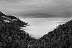 Grande montagna fumosa Immagini Stock