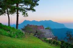 Grande montagna per trekking Fotografia Stock