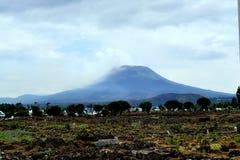 Grande montagna stessa a Goma, Repubblica Democratica del Congo fotografia stock