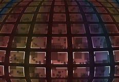 Grande mosaico dei quadrati Fotografia Stock