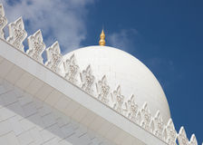 Grande moschea - Abu Dhabi Fotografie Stock Libere da Diritti