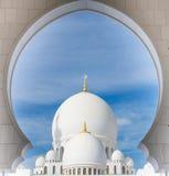 Grande moschea, Abu Dhabi, UAE Immagini Stock Libere da Diritti