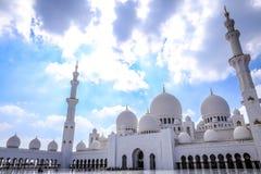 Grande moschea bianca Fotografie Stock Libere da Diritti