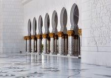 Grande moschea dell'Abu Dhabi Immagine Stock