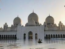 Grande moschea dell'Abu Dhabi fotografia stock