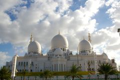 Grande moschea dell'Abu Dhabi Zayed Immagine Stock Libera da Diritti