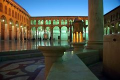 Grande moschea di Umayyad Fotografia Stock Libera da Diritti