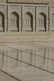 Grande moschea magnifica di Muscat, Oman Fotografia Stock
