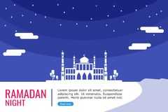 Grande moschea per la preghiera musulmana royalty illustrazione gratis
