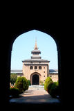 Grande moschea, Srinagar, Kashmir, India fotografia stock libera da diritti