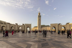 Grande Mosquee Hassan II in Casablanca Royalty Free Stock Images