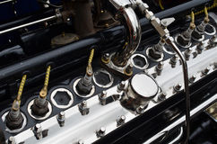 Grande motore di automobile d'annata Fotografia Stock Libera da Diritti