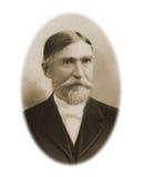 Grande moustache d'homme antique de photographie photo libre de droits