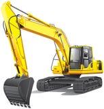 Grande máquina escavadora Fotos de Stock Royalty Free