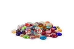 Grande mucchio delle gemme di vetro Immagine Stock