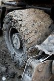 Grande Muddy Wheel Fotografie Stock