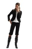 Grande mulher de negócio de vista Foto de Stock Royalty Free