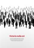 Grande multidão de povos Fundo do vetor Fotografia de Stock