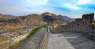 Grande muraglia ad una sezione di nove portoni di acqua della grande muraglia Immagini Stock Libere da Diritti