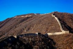 Grande muraglia del paesaggio della Cina - attrazione turistica a Pechino, Cina immagine stock