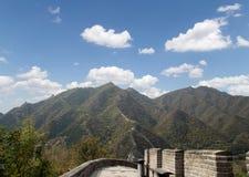 Grande muraglia della Cina, a nord di Pechino Immagini Stock Libere da Diritti
