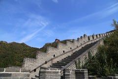 Grande muraglia della Cina, a nord di Pechino Fotografia Stock Libera da Diritti