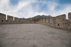 Grande muraglia della Cina, a nord di Pechino Fotografie Stock