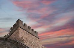 Grande muraglia della Cina, a nord di Pechino Immagine Stock Libera da Diritti