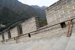 Grande muraglia della Cina, a nord di Pechino Fotografia Stock