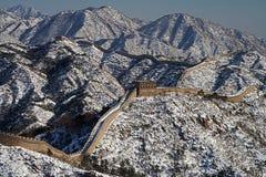 Grande Muraglia della Cina panoramica Fotografie Stock Libere da Diritti