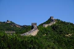 Grande Muraglia di Badaling Fotografie Stock Libere da Diritti