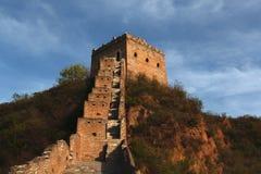 Grande muraglia di Jinshanling a Pechino Fotografia Stock