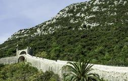 Grande muraglia di Ston - Ston, Ragusa - Neretva, Croazia fotografie stock libere da diritti