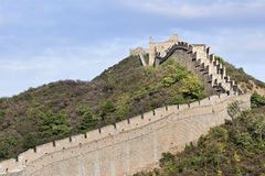 Grande muraglia maestosa al tramonto a Jinshanling, di nordest 120 chilometri da Pechino Fotografie Stock