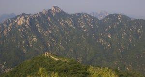 Grande muraglia panoramica della Cina Immagini Stock Libere da Diritti