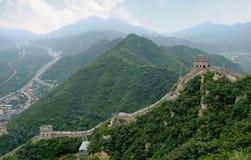 Grande Muraglia. Vista laterale Immagini Stock