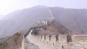 Grande Muraille de la Chine banque de vidéos
