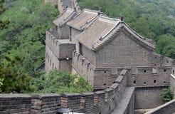 Grande Muraille de la Chine avec la pollution atmosphérique Photos stock