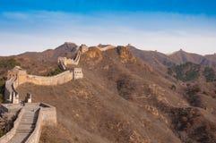 Grande Muraille de porcelaine dans jinshanling Images libres de droits